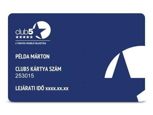 Club5  Silver törzsvásárlói kártya - Top Shop 8e4a5f358b