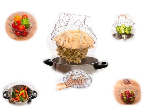 Brava összecsukható főző- és sütőkosár Delimano