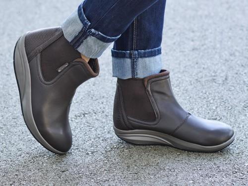 Comfort alkalmi magasszárú női cipő Walkmaxx