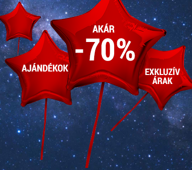 Exkluzív ajánlatok: akár -70%