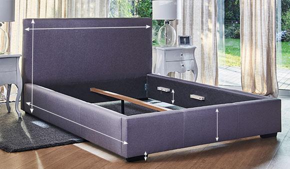 Dormeo Dolce Bed Frame Light Grey